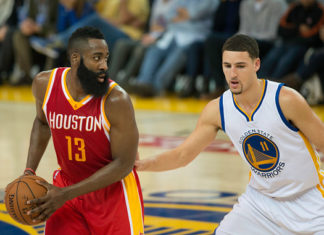 James Harden and Klay Thompson