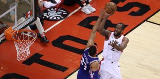 Kawhi Leonard Raptors vs Philadelphia 76ers