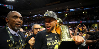 Steph Curry Celebrating a Championship