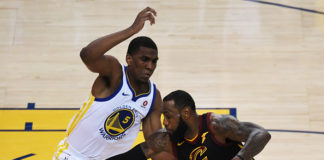 Kevon Looney Defends LeBron James during the 2018 NBA Finals