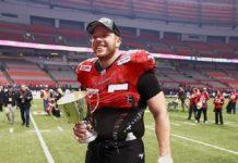 Dan Federkeil of the Calgary Stampeders