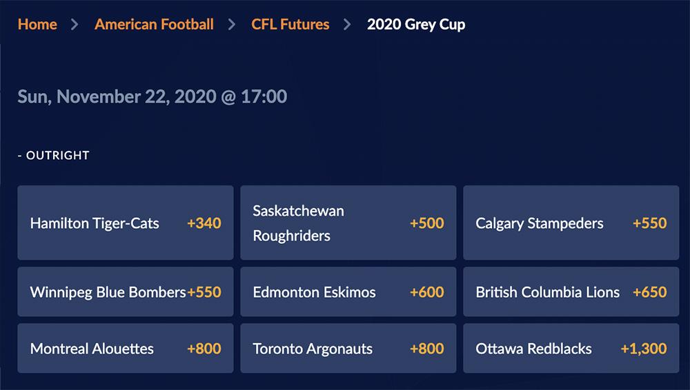 CFL Grey Cup future