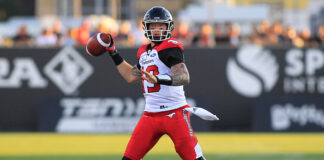 CFL Quarterbacks, number one Bo Levi Mitchell.