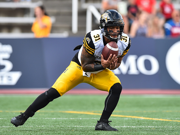 Sean Thomas-Erlington of the Hamilton Tiger-Cats