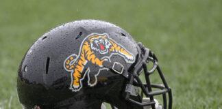 Hamilton Tiger-Cats helmet