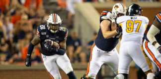 Auburn rushing attack got the best of the Kent State Golden Flashes, 55-16, behind a dominant ground game behind JaTarvious Whitlow.