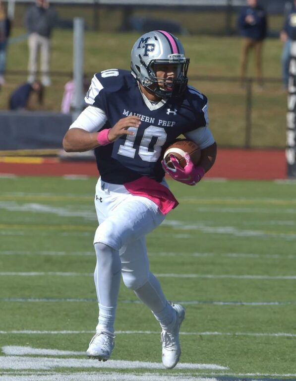 Lonnie White Jr signed his NLI to attend Penn State. The four-star athlete from Malvern Prep decided to stay home with the Nittany Lions.