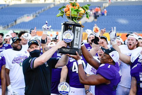 Northwestern Wins 2021 Citrus Bowl