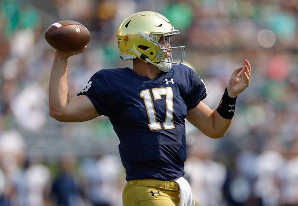 Notre Dame quarterback