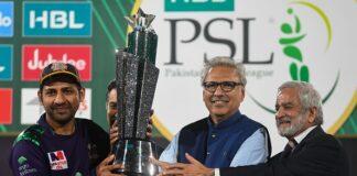 Sarfraz Ahmed celebrates winning the Pakistan Super League 2019 as captain of the Quetta Gladiators