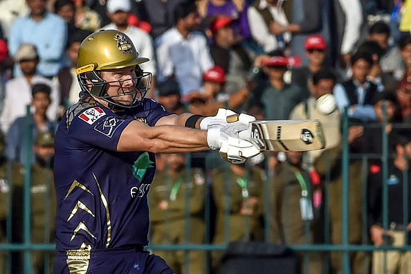 Shane Watson batting during the Pakistan Super League 2019 for the Quetta Gladiators