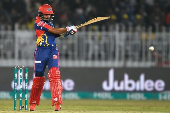 Babar Azam bats for the Karachi Kings during the Pakistan Super League 2019
