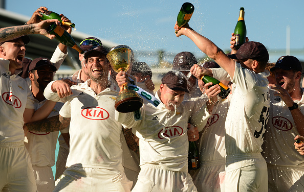 Surrey win the Specsavers County Championship in 2018