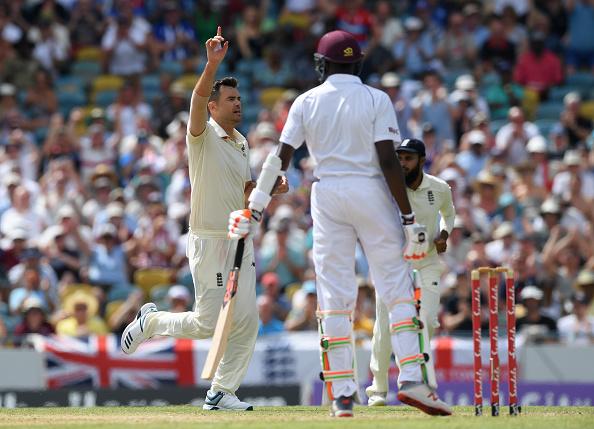 James Anderson picks up a wicket vs Windies 2019