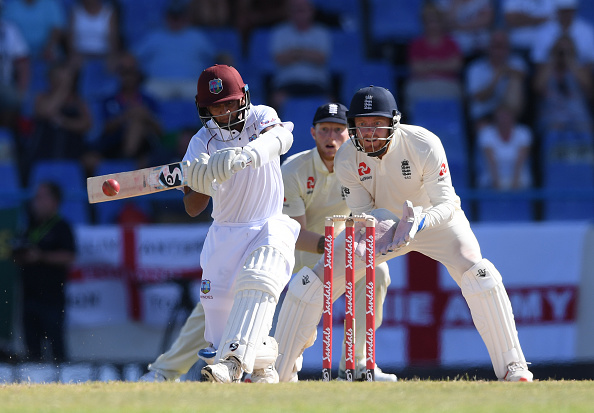 Shane Dowrich, a West Indies Cricket Player bats against England 2019