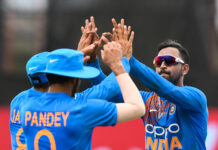 Krunal Pandya Ravindra Jadeja give a hi-5 in 2019 after dismissing Nicholas Pooran