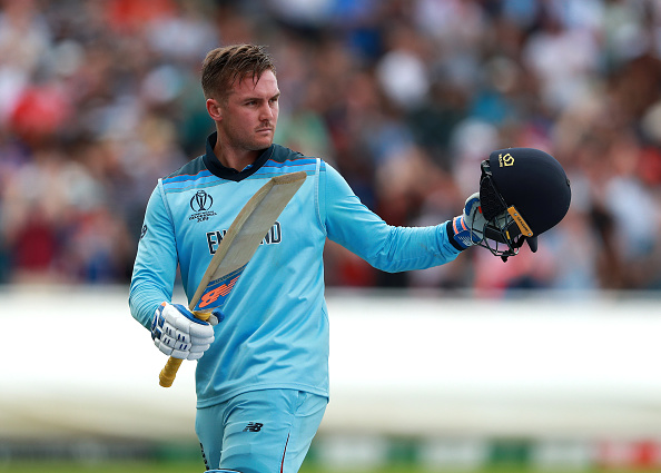 Jason Roy of Surrey CCC and England against Australia in the world cup semi final