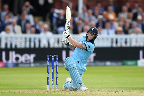 England's Best All-Rounder currently Ben Stokes hits one to the boundary
