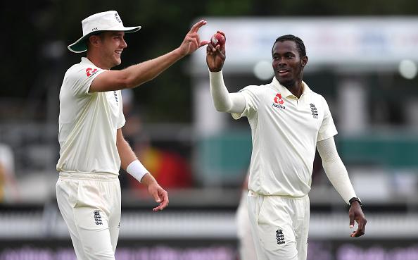 Stuart Broad and Jofra Archer bowl for England v Windies preparation