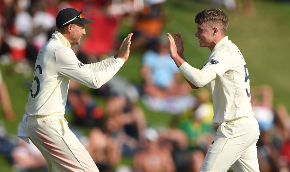 Sam Curran Surrey Player celebrates the wicket of Quinton De Kock 2019