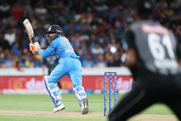 Krunal Pandya Ravindra Jadeja bats against New Zealand 2020 in a T20