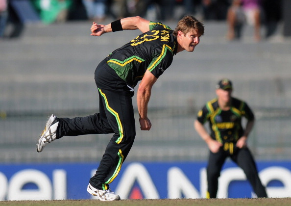 Watson bowls during the World T20 in 2012.