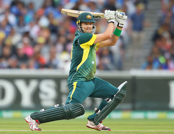 Shane Watson bats for Australia against India in 2015