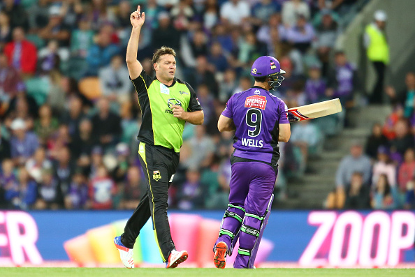 Proteas Cricket. Jacques Kallis celebrates a wicket in the BBL 2016