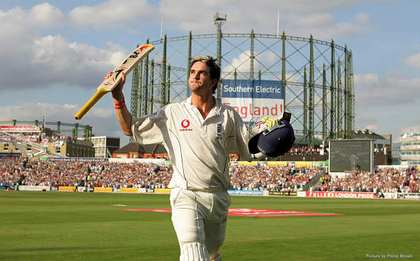 Kevin Pietersen is dismissed after scoring 158 for England Cricket against Australia