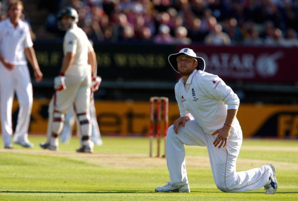 Andrew Flintoff dominated the 2009 Ashes series and here he bowls in the 3rd test against Australia at Birmingham