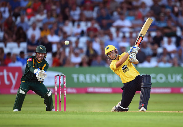 Sam Hain bats during the Natwest T20 Blast. A great young talent for England Cricket! English Cricket Counties want limited overs cricket to be played too!