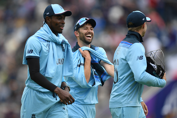 Jofra Archer and Mark Wood. England Practice. Cricket World Cup 2019.
