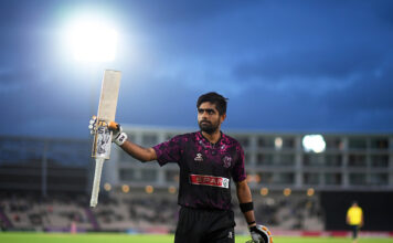 English Cricket Counties Babar Azam batting in the T20 Blast 2019