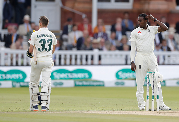 Jofra Archer bowling in the 2019 Ashes to Marnus Labuschagne. Is fast bowling key?