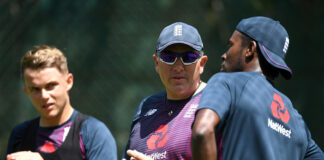 Jofra Archer perhaps the best of the young English Test Cricketers with Sam Curran and Chris Silverwood 2019