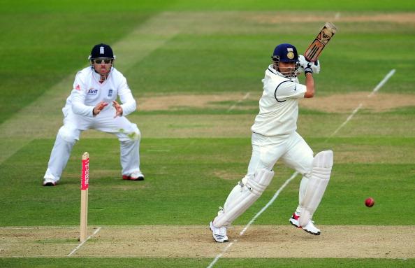 Indian Cricket Team Sachin Tendulkar bats versus England 2007