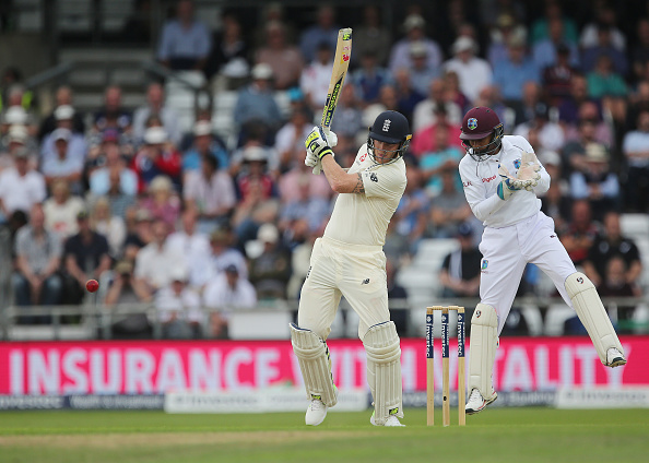 Ben Stokes bats in a test match against the West Indies 2017