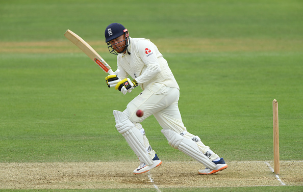 Jonny Bairstow bats in the practice game on Day 3 between Team Stokes and Team Buttler