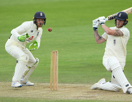 Stokes and Buttler play in the practice game 2020