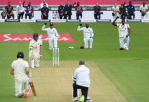 All players were seen taking the knee halfway through the England vs West Indies test match 2020