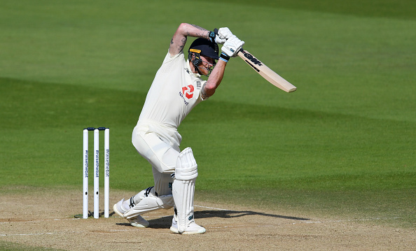 Ben Stokes bats at the Ageas Bowl in Southampton vs the West Indies
