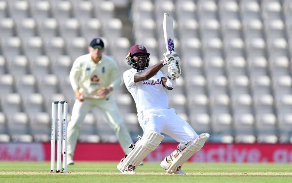 Jermaine Blackwood batted extremley well before being dismissed for 95