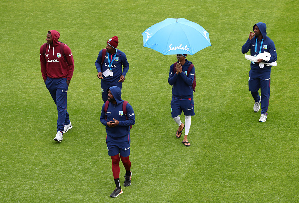 Eng v WI day 3 rain stopped play and the West Indies players would be happy not to be out there batting