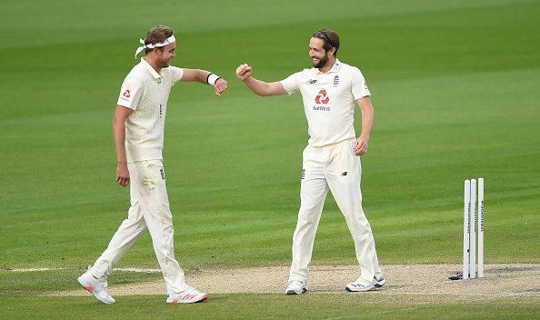Stuart Broad and Chris Woakes helped England to a significant lead against the West Indies at Old Trafford 2020
