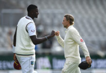 Joe Root and Jason Holder were both respective captains in the England v West Indies test match series. England won the test series 2-1