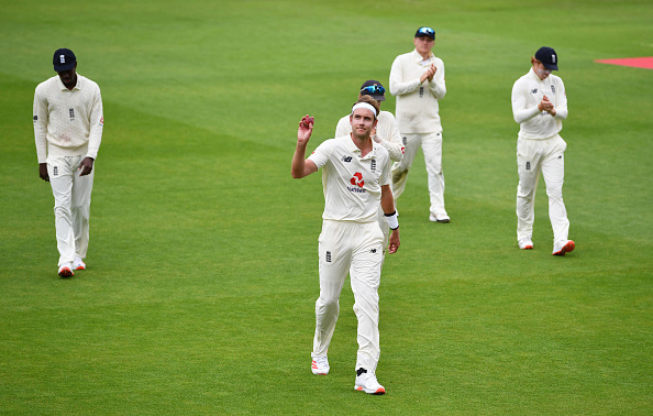 Stuart Broad put England Cricket on the brink of winning the third test match and the series at Manchester