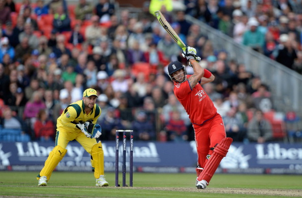 Kevin Pietersen in action in a One-Day International against Australia