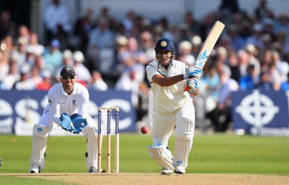 MS Dhoni bats for India vs England 2014 test series
