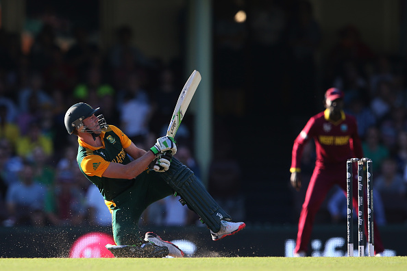 AB De Villiers scores 162 of 66 balls vs the West Indies at the 2015 Cricket World Cup at Sydney