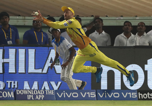 Faf Du Plessis has taken some excellent catches for CSK